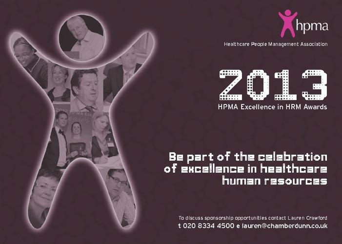 HPMA Awards Sponsorship 2013