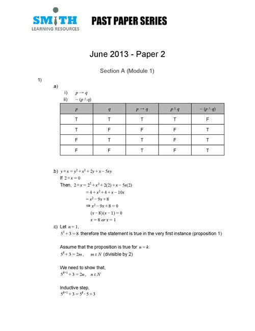 Unit 1 June2013 Paper 2