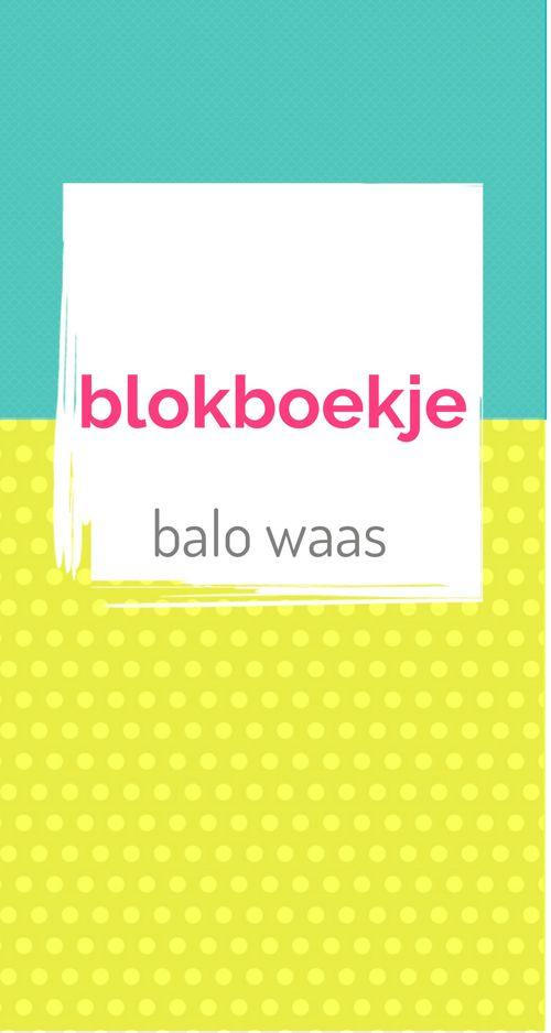 Blokboekje BALO WAAS