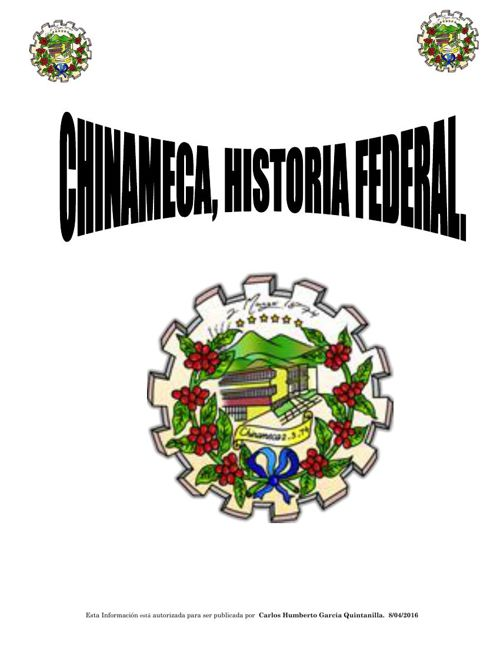 Copy of CHINAMECA, HISTORIA COLONIAL Y FEDERAL 2016