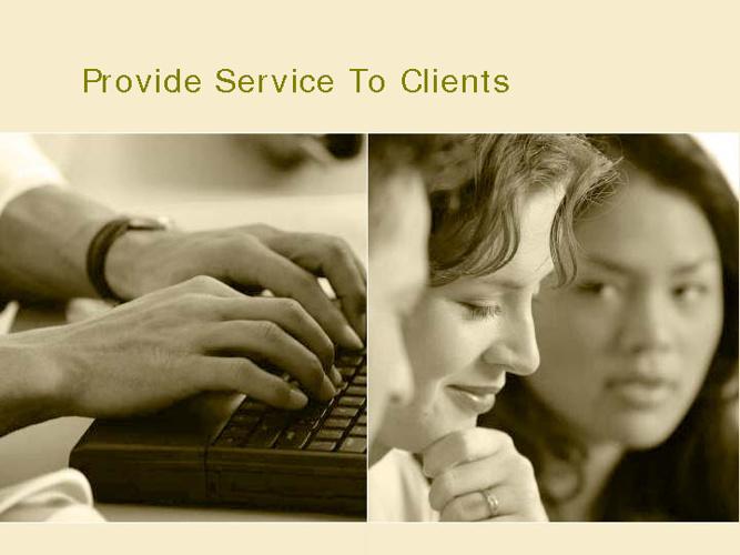 Receive clients
