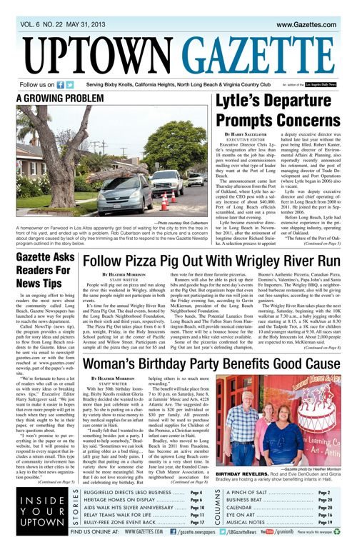 Uptown Gazette  |  May 31, 2013