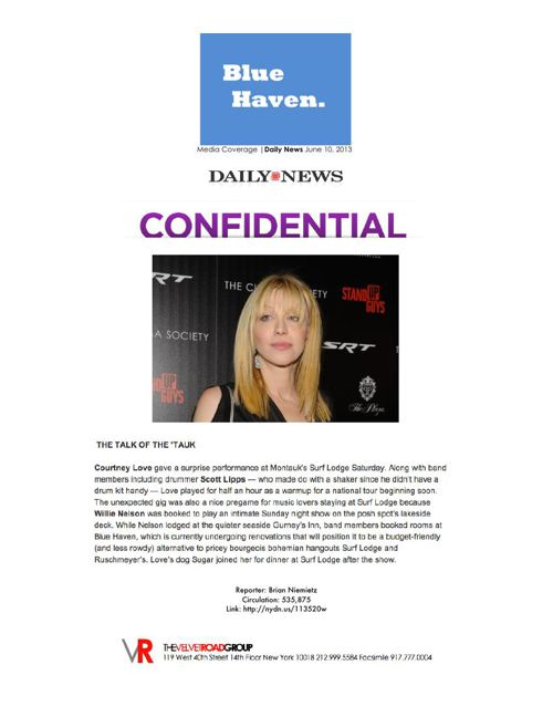 Haven Montauk - 2015 Press Kit