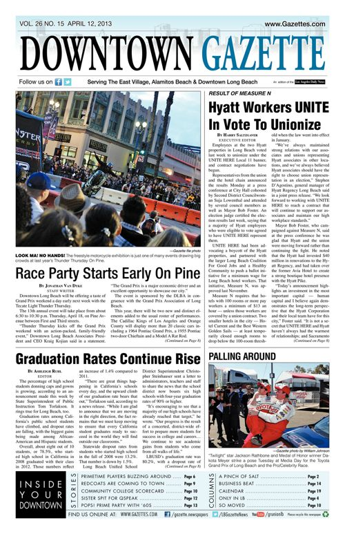 Downtown Gazette  |  April 12, 2013