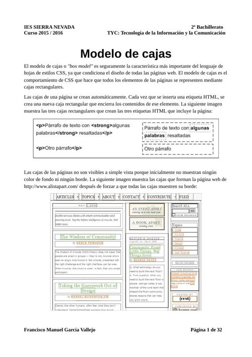 MODELOS DE CAJAS EN CSS
