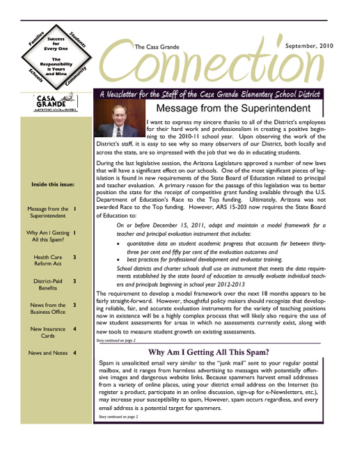 CG newsletter September 2010