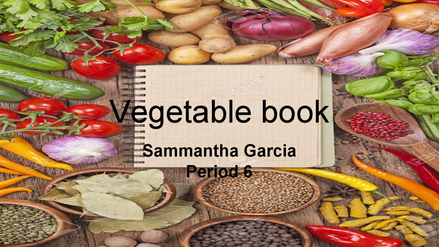 Untitled presentation vegetable book
