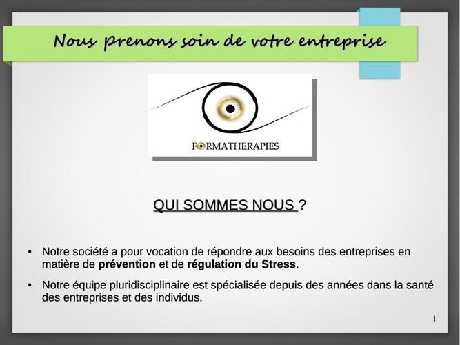 Le stress un coût pour l'entreprise