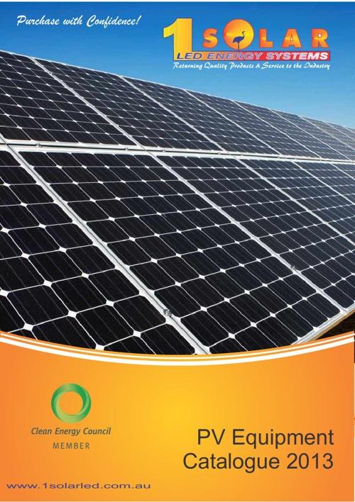 1 Solar 2013 Product Catalogue