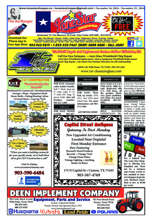 EPUB L0NE STAR SHOPPER 11/16/2016