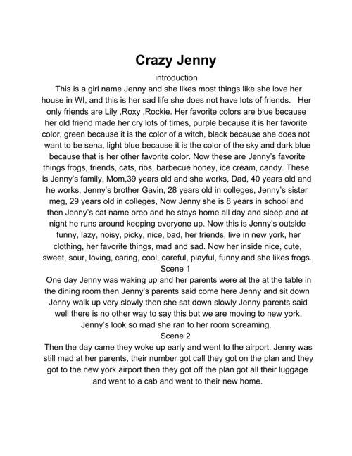 Crazy Jenny