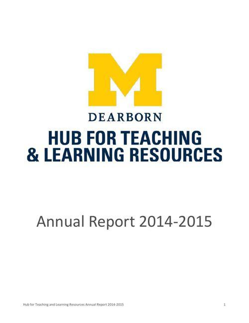 Hub Annual Report 2014-2015 public