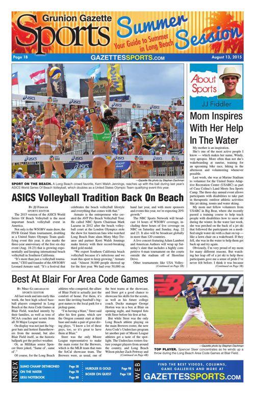 Gazette Sports | August 13, 2015