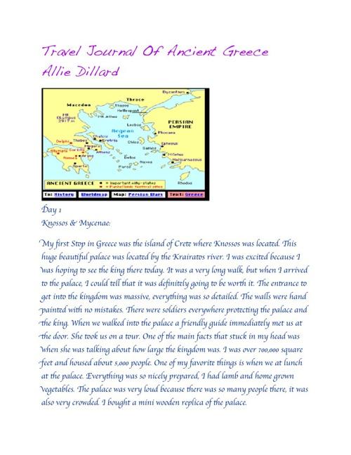 Allie Dillard travel guide