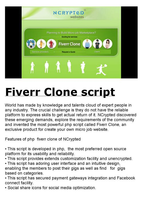 Fiverr Clone script by NCrypted