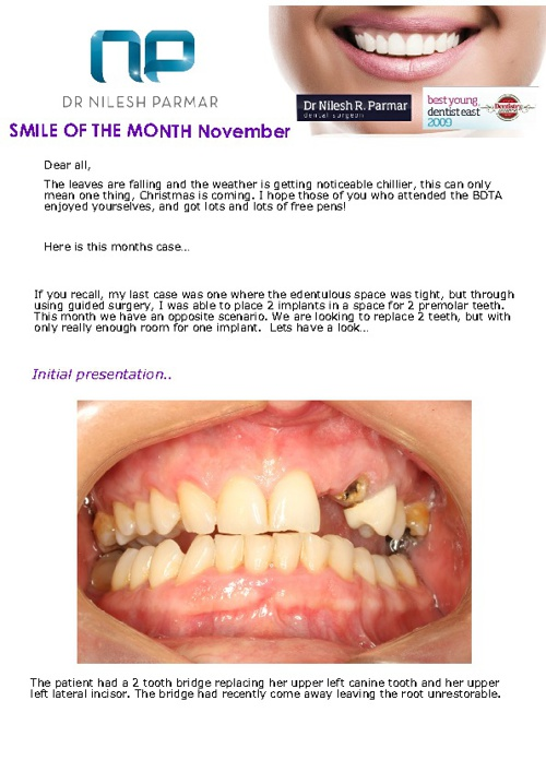 Smile of the Month November 2012