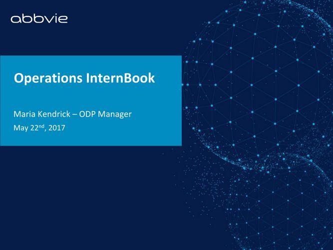 Operations InternBook