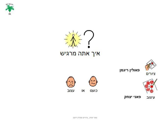 ספר זיהוי רגשות כועס עצוב פאני יצחק ופאולין ריגמן