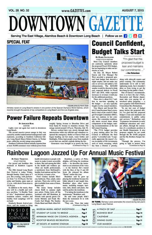 Downtown Gazette  |  August 7, 2015