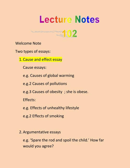 My Lecture Notes at QU