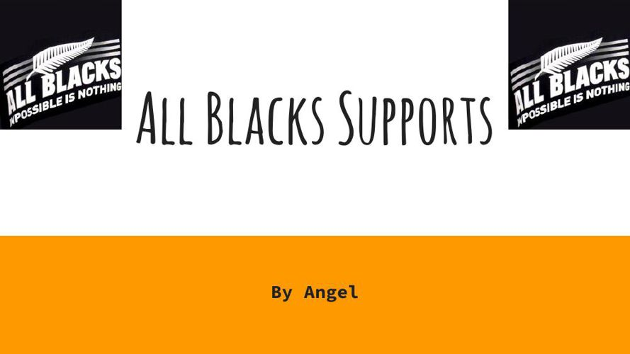 All Blacks Supports