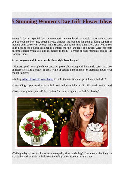 5 Stunning Women's Day Gift Flower Ideas