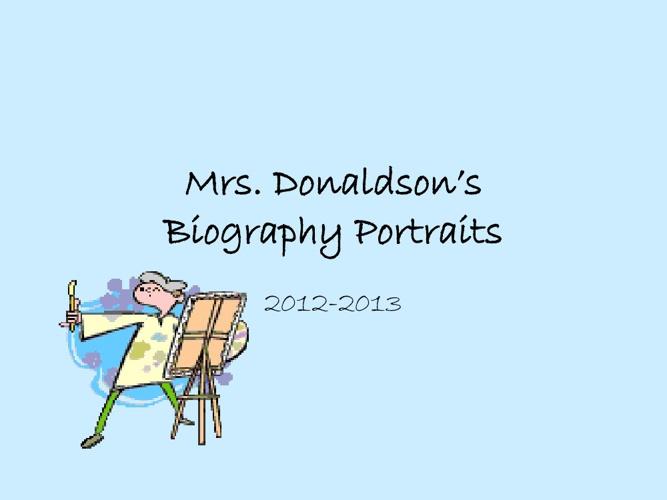 Biography Portraits