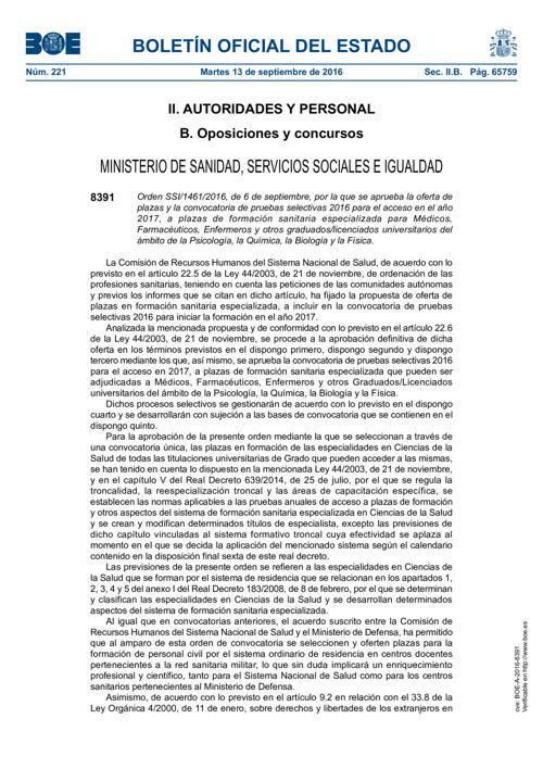 160913 BOE- Orden de 6 de septiembre por la que se aprueba la of