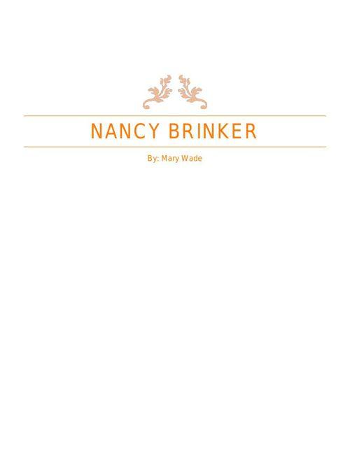 Nancy Brinker book pages