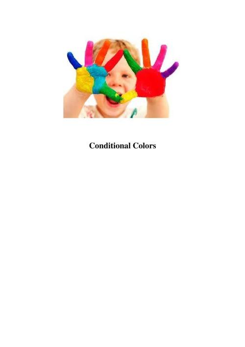Conditional Colors \ Noami Avraham