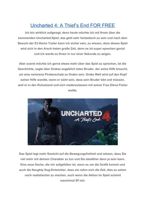 Uncharted4AThiefsEndFORFREE