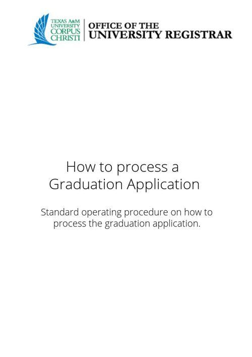 How to process a graduation application