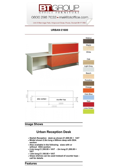 Reception Desks (101-136)