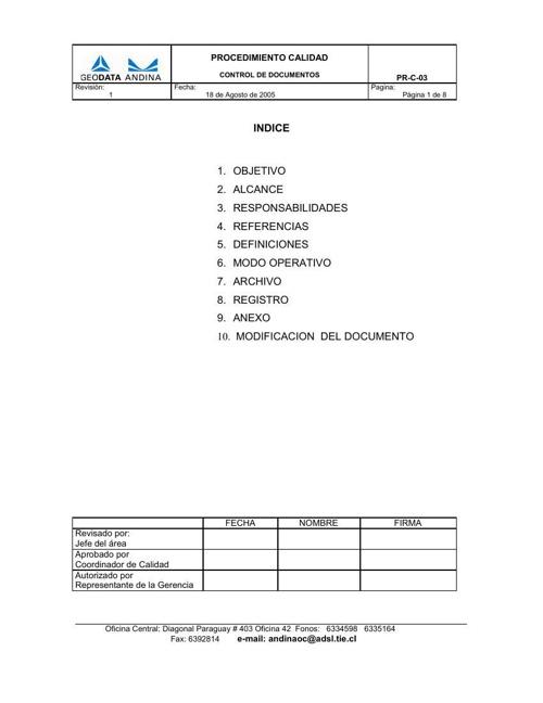 PR-C- 03 Control de Documentos Rev 1