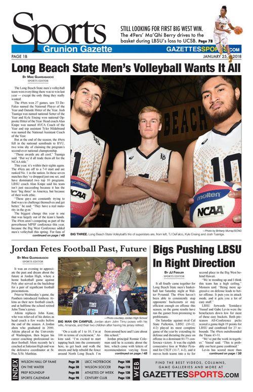Gazette Sports 1-25-18