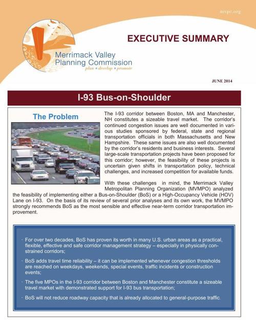 Bus on Shoulder Exec Summary 061114