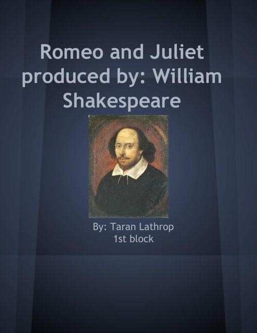 Taran's Romeo and Juliet Scapbook
