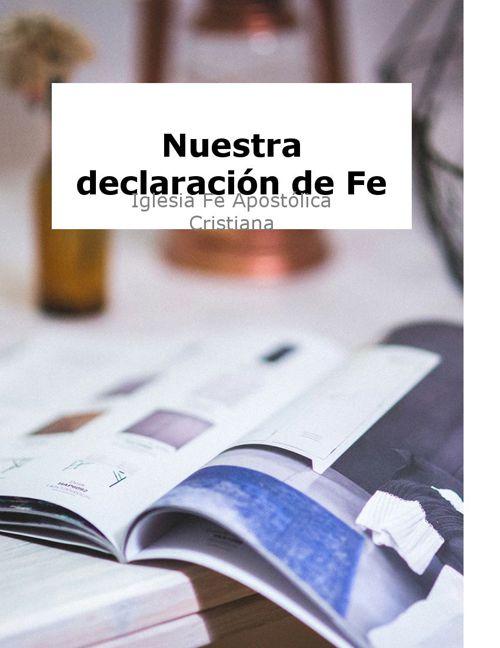 Nuestra Declaración de FE