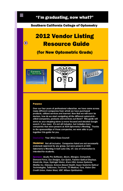 Vendor Resource Guide 2011-2012