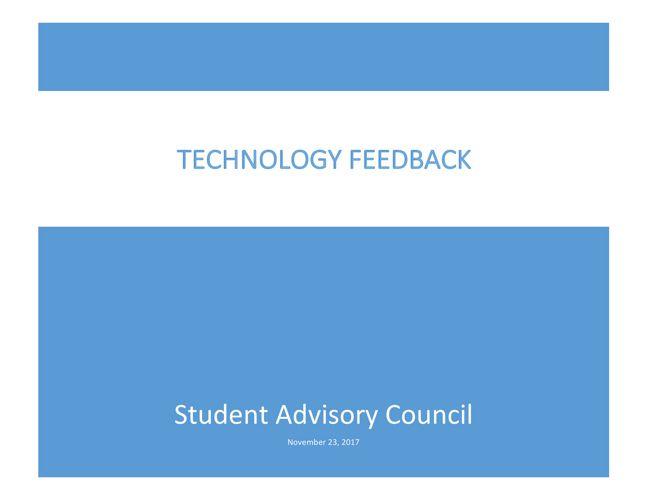 SAC Technology Feedback