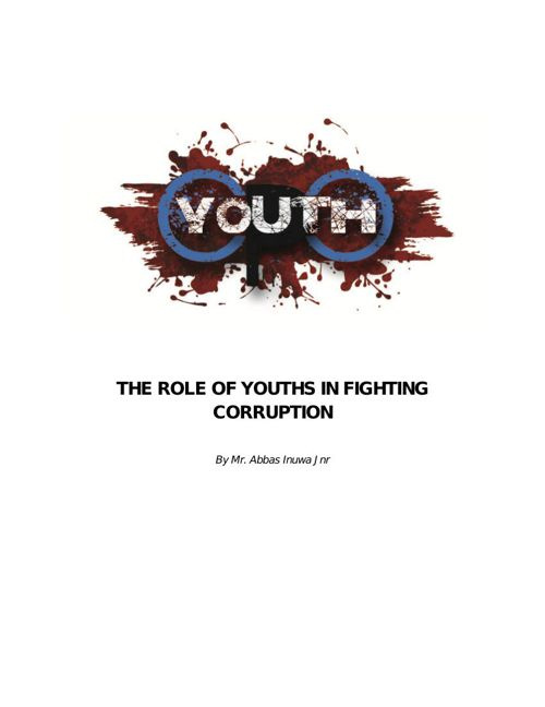 The Role of Youths in Fighting Corruption
