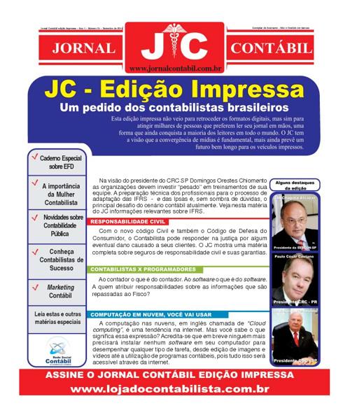 Jornal Contábil - Setembro de 2011 - Primeira Edição