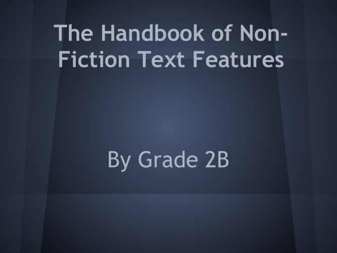The Handbook of Non-Fiction Text Features