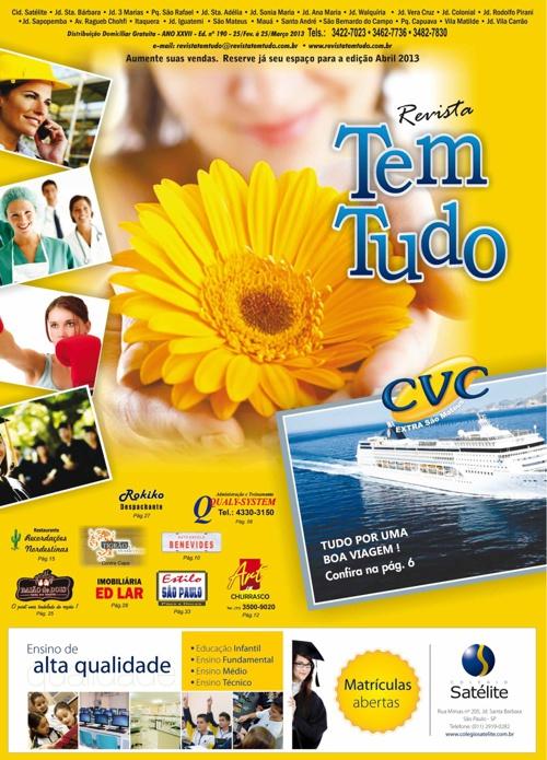Revista Tem Tudo - De 25/Fev à 25/Março de 2013