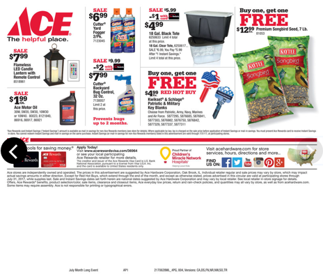 July 2017 Ace Hardware Specials
