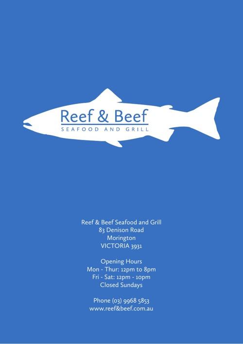 Reef & Beef Menu