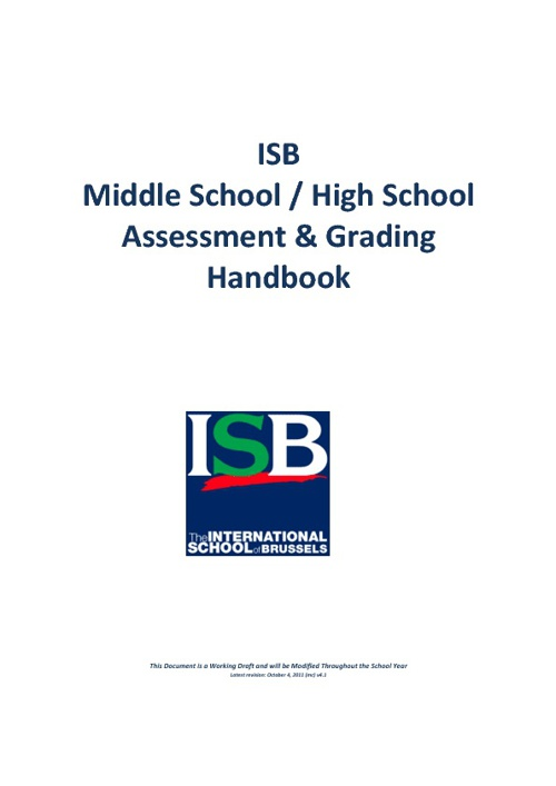 ISB Assessment Handbook