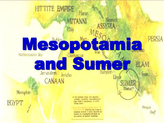Mesopotamia - Introduction