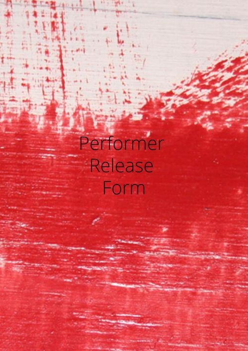 Performer release form
