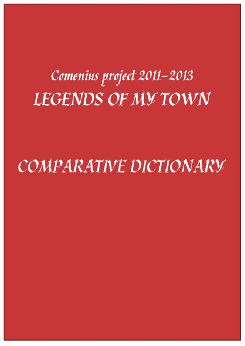 Legends of my town - comparative dictionary